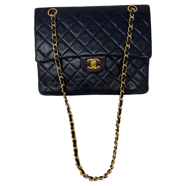 Chanel Black Vintage Large Double Flap