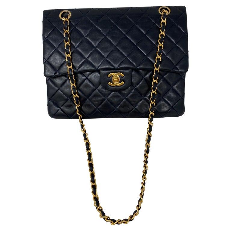 Chanel Black Vintage Large Double Flap  For Sale