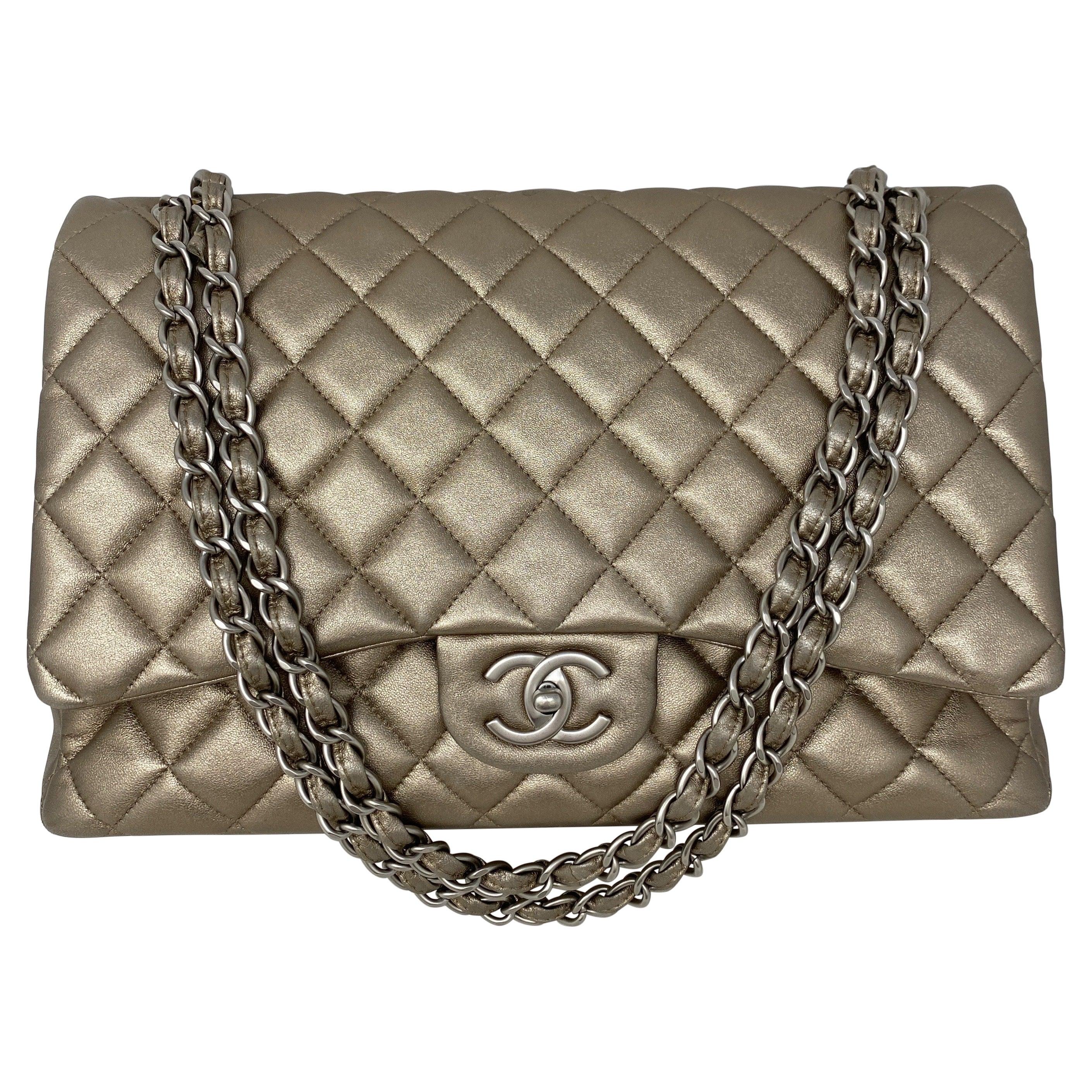 Chanel Bronze Metallic Maxi Bag