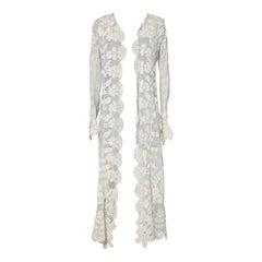 Hand made long coat in Ireland's crochet 1900's