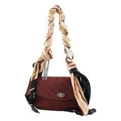 Balenciaga Lock Round Shoulder Bag Jacquard Small