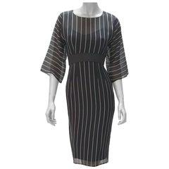 Dolce&Gabbana Silk Striped Double Dress