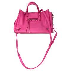 Balenciaga Hot Pink Mini Motorcyle Bag