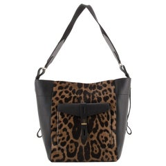 Tom Ford Hollywood T Twist Hobo Printed Pony Hair and Leather Medium