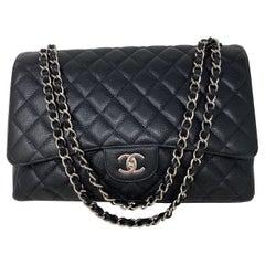 Chanel Black Maxi Single Flap Bag