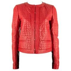 Roberto Cavalli Red Leather Jacket