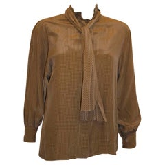 Gloria Sachs  1970s Vintage Silk Blouse