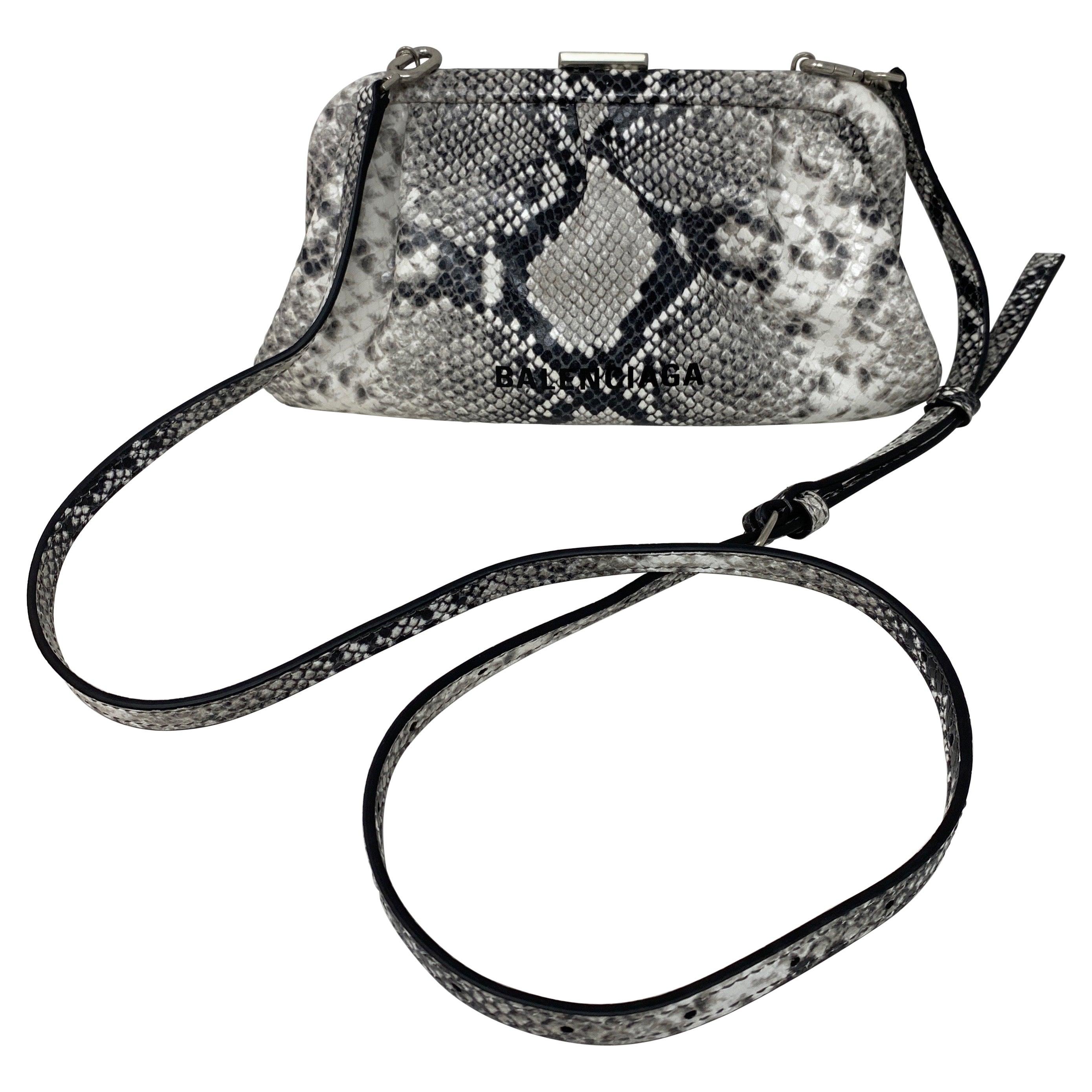Balenciaga Black and White Crossbody Bag