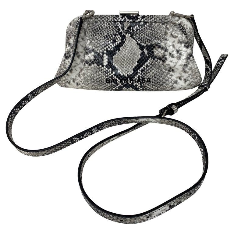 Balenciaga Black and White Crossbody Bag  For Sale