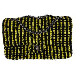 Chanel Yellow and Black Tweed Bag