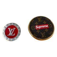 Louis Vuitton Supreme Pin Set
