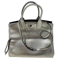Salvatore Ferragamo Silver Tote Bag