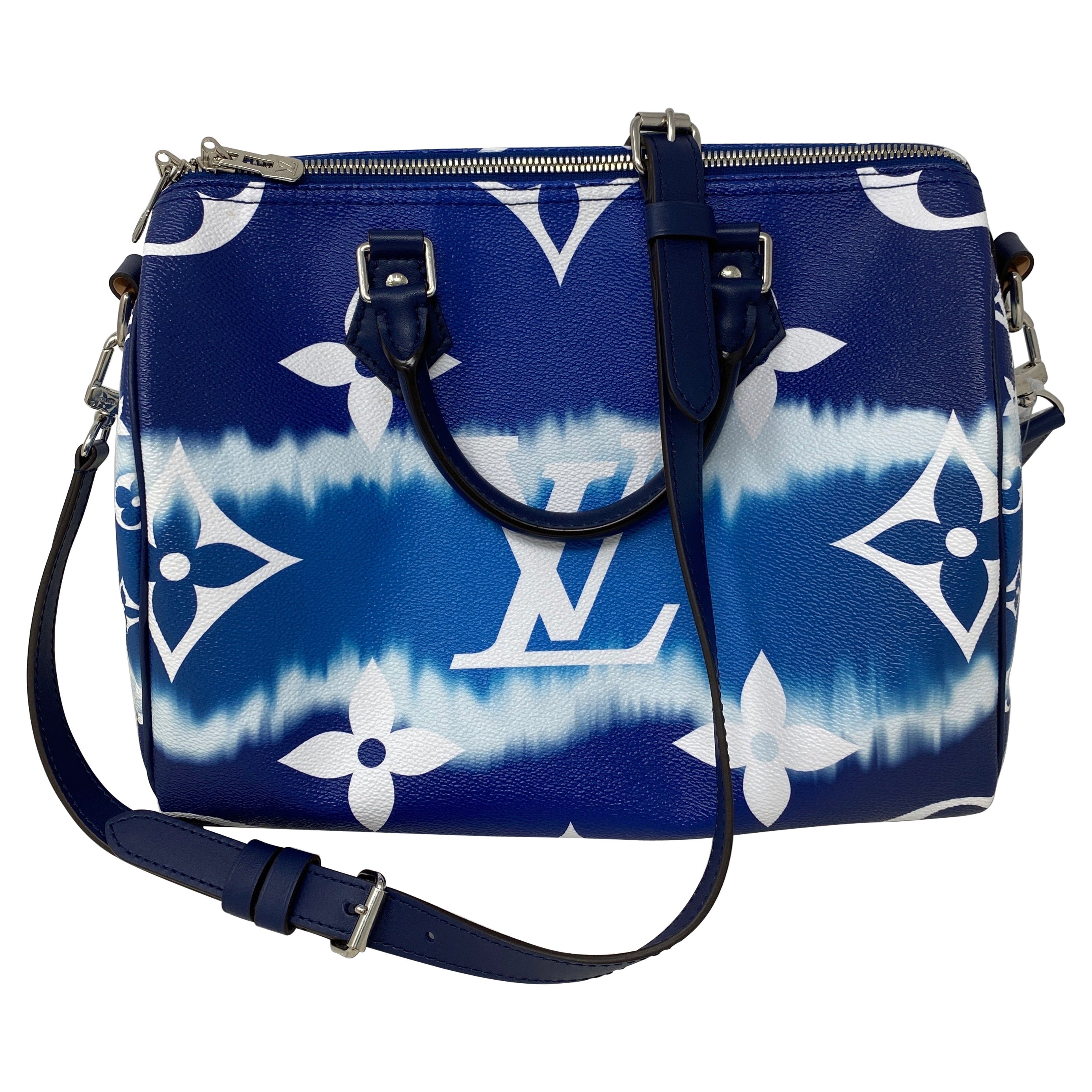 Louis Vuitton Blue Escale Speedy Bandouliere Bag