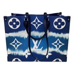Louis Vuitton Blue Escale On The Go Bag
