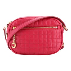 Celine C Charm Camera Bag Quilted Leather Small