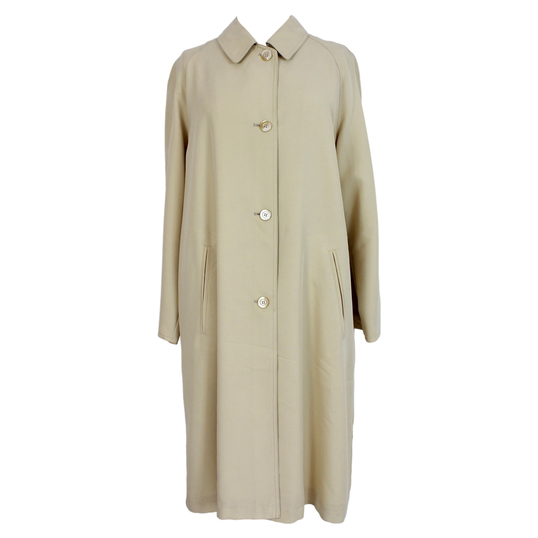 Trussardi Beige Long Classic Trench Coat