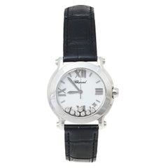 Chopard White Diamonds Happy Sport 278475-3001 Women's Wristwatch 36 mm