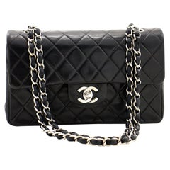 Chanel Silver Medium Double Flap Bag