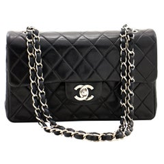 Chanel Silver Small Double Flap Bag