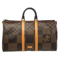 Louis Vuitton x Nigo  Damier Ebene Canvas Keepall Bandouliere 50 Bag