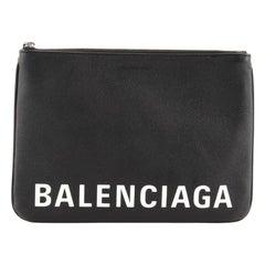 Balenciaga Ville Pouch Leather Medium