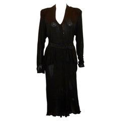 Vintage Janice Wainwright Black Dress