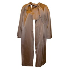 Vintage Doree Leventhal Satin Durster Coat