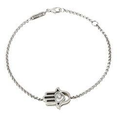 Chopard Happy Diamond Hand Motif Diamond 18K White Gold Bracelet