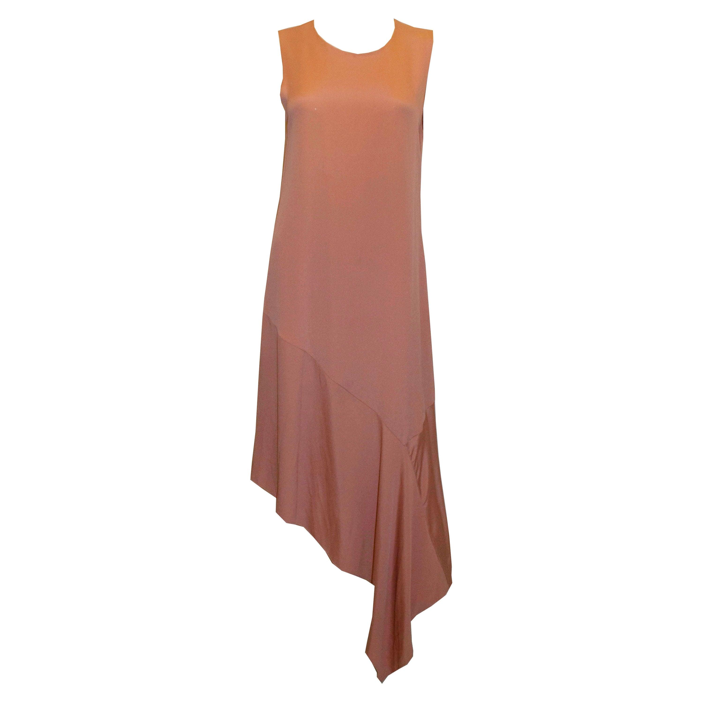 Joseph Blush Pink Silk Dress with Asymetric Hem