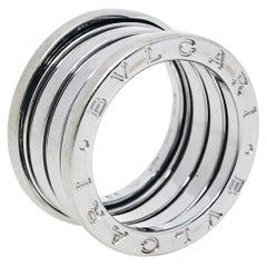 Bvlgari B.Zero1 18K White Gold Four Band Ring Size 51