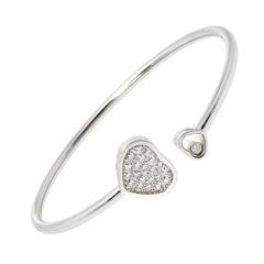 Chopard Happy Hearts Diamond 18K White Gold Cuff Bracelet