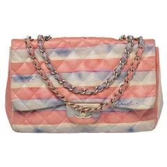 Chanel Multicolor Watercolor Colorama Leather Jumbo Classic Single Flap Bag