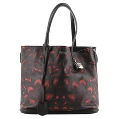 Alexander McQueen Padlock Shopper Tote Printed Leather Large