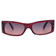 Persol Ratti Meflecto Red Acetate Sunglasses 2709-S 56/15 130 mm
