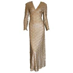60s Evening Gown Sparkling Sequins Formal Gown Jack Bryan by DuPuis