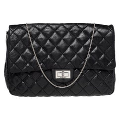 Chanel Black Quilted Leather Reissue Chain Clutch Bag