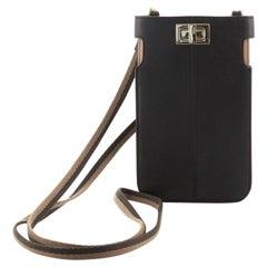Fendi Peek-A-Phone Pouch Crossbody Leather