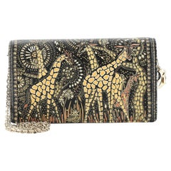 Christian Dior Animals Chain Pouch Printed Leather