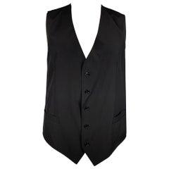 DOLCE & GABBANA Size 44 Black Wool Buttoned Vest