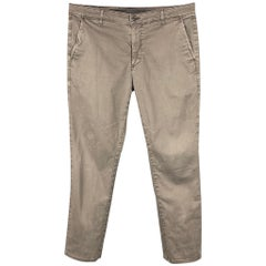 ADRIANO GOLDSCHMIED Size 36 Dark Gray Wash Cotton The Lux Khaki Tailored Pants