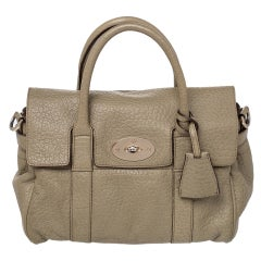 Mulberry Olive Green Leather Small Bayswater Satchel