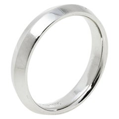 Tiffany & Co. Platinum Knife Edge Band Ring Size 59