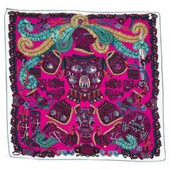 Sous l'Egide de Mars Cashmere Silk Shawl Designed by Pierre Marie 140
