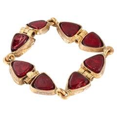 Chanel Red Gripoix Vintage Bracelet