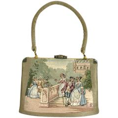 Lavishly Embroidered French Purse