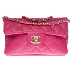 Amazing Chanel Wallet on Chain (WOC) shoulder bag in Pink quilted leather, CHW