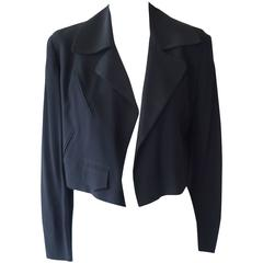 1980s Moschino Couture Black Jacket (M)
