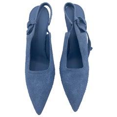 Victoria Beckham Blue Suede High Heels Shoes, Size 41