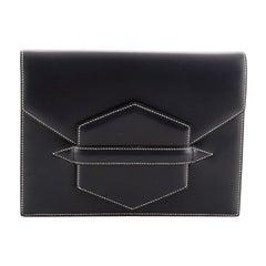 Hermes Vintage Faco Clutch Leather