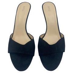 Barneys New York Black Suede Mules Heels, Size 41.5